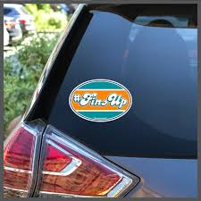 Nfl Miami Dolphins Finsup Fins Up Football Removable Window Etsy