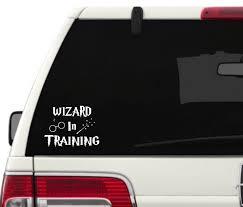 Wizard In Training Vinyl Decal Sticker Attach To Any Smooth Etsy Vinyl Decal Stickers Vinyl Decals Vinyl