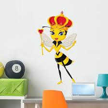 Cartoon Queen Bee Wall Decal Wallmonkeys Com