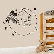 Creative New Diy Cute Mickey Mouse Moon Goodnight Wall Stickers For Kids Rooms Mickey Home Decoration Wall Stickers Cute Home Decor Olivia Decor Decor For Your Home And Office