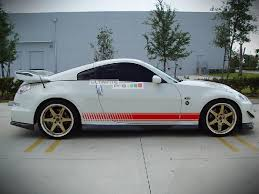 2x Decal Sticker Vinyl Side Racing Stripes Compatible With Nissan 350 Z Fairlady Z 2002 2009 Ultimateprocy