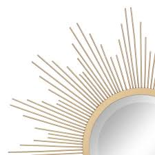 sunburst antique gold decorative mirror
