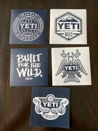 Lot Of 3 Official Yeti Cup Cooler Built For The Wild Vinyl Decals Stickers For Sale Online Ebay
