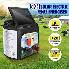 5km Solar Electric Fence Energiser 0 15 Joule Low Impedance Fence Charger Cattle Horses Crazy Sales