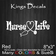 Nurse Life Vinyl Decal Window Nursing Rn Lpn Medical Hospital Car Laptop Sticker Ebay