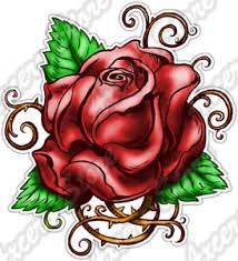 Tattoo Rose Roses Flower Thorn Gothic Bloom Car Bumper Vinyl Sticker Decal 4 X5 Ebay