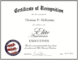 Thomas P. McKenna | Elite American Executives