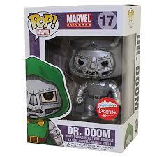 Funko Pop Marvel 17 Dr Doom Black White Fugitive Exclusive Walmart Com Walmart Com