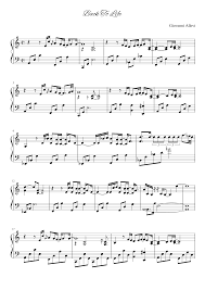 Giovanni Allevi - Back To Life Sheet music for Piano (Solo)