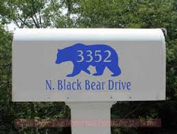 Custom Lettering Mailbox Decals Stickers Address Bear Vinyl Personalized Set Of 2