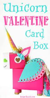 unicorn valentine s day card box diy