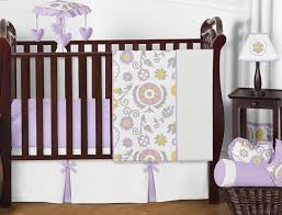 lavender and white suzanna baby bedding