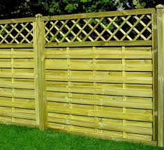 Fence Panel 434 Planed Timber 9mm Reeded Boards 3x2 Frame