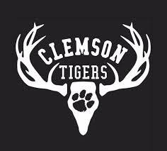 Deer Hunting Antler Truck Or Car Window Decal Sticker Clemson Tigers Football Verhinedesigns Cardecal Clemson Tigers Football Clemson Deer Decal