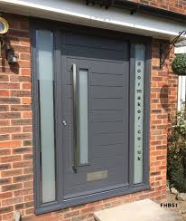 grey door and frame side panels