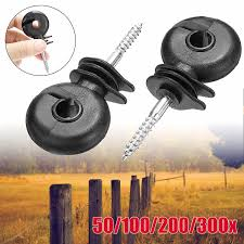 100pcs Electric Fence Offset Ring Insulators Fencing 3 4 Screw In Posts Wire Industrial Screws Bolts Bolt Passionedu Vn
