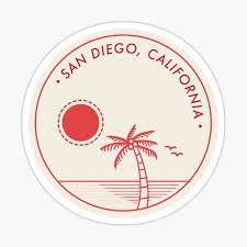 San Diego Stickers Redbubble