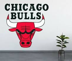 Chicago Bulls Wall Decal Nba Basketball Logo Vinyl Stiker Eastern Conference Ebay