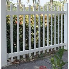 Azembla White Vinyl Fence Bracket Kit For Azembla S Fence Panels 1728310a The Home Depot