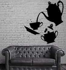 Tea Time Vinyl Decal Coffee Kitchen Decor Home Dining Room Wall Sticke Wallstickers4you