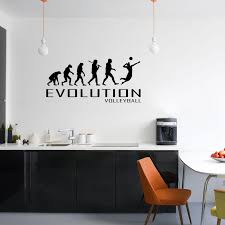 Evolution Of Volleyball Wall Sticker Vinyl Decal Decors Art Sport Court Beach The Clothing Shed