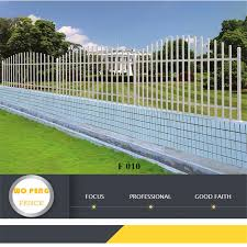 China F010 White Color Of Square Tube Steel Fence Modern Steel Fence Design China Fencing System Fence Panel
