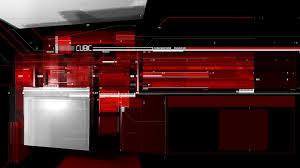 red cubic tech desktop pc and mac wallpaper