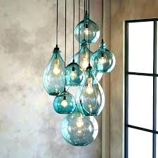 glass blown pendant lights