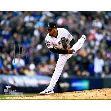 "German Marquez Colorado Rockies Autographed 16"" x 20"" Pitching ..."