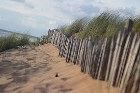 Hd Wallpaper Beach Dunes Fence Grass Sand Sand Dunes Sea Sky Summer Wallpaper Flare