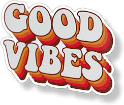 Amazon Com 70 S Good Vibes Sticker Groovy Retro Vintage Cup Cooler Laptop Car Vehicle Window Bumper Vinyl Decal Graphic Arts Crafts Sewing