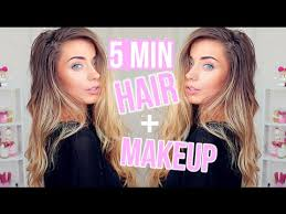 5 minute hair makeup for work
