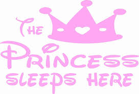 The Princess Sleeps Here Wall Decal Click My Clobber