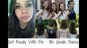 8th grade dance hair makeup dress