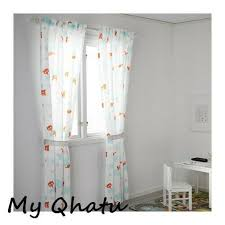Ikea Stjarnbild Curtains With Tie Backs 1 Pair Kids Room For Sale Online Ebay