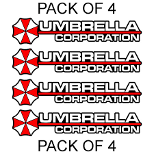 4x Umbrella Corporation Hive Resident Evil Vinyl Sticker Car Truck Window Decal Wish