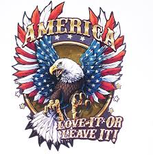 America Love It Or Leave It American Flag Eagle American Flag Eagle Full Color Graphic Window Decal Stick