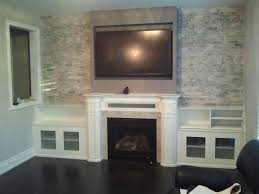 modern wall units with fireplace and tv