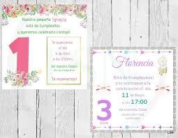 Invitacion De Cumpleanos Ninas 3 500 En Mercado Libre
