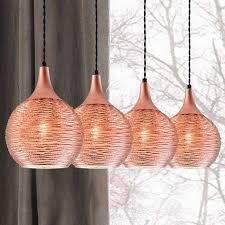 fiona linear pendant light in copper 4