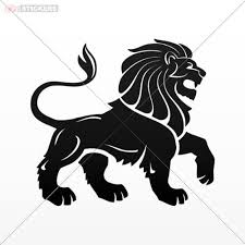 Amazon Com Decal Sticker Lion Car Window Helmet Truck Boat Vinyl Art Decor Size 5 X 4 5 Inches Black Kitchen Dining