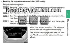 reset oil service light lexus gs s190