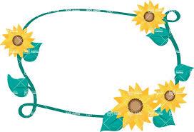 sunflower vine vector frame