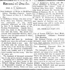 Obituary for Mrs Z T McMillan (Ada Williamson) in The Robesonian Feb 7 1924  - Newspapers.com
