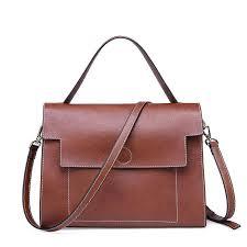 genuine leather kelly tote handbag
