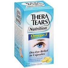 thera tears dry eye relief capsules 90