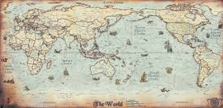 antique world map to travel is to live