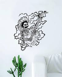 Skull With Bow Wall Decal Flower Colorful Art Crown Steampunk And Crossbones Sugar Vinyl Vamosrayos