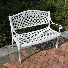 cast aluminum path chair patio benches