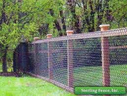 Black Chain Link Fence Fence Design Chain Link Fence Backyard Fences